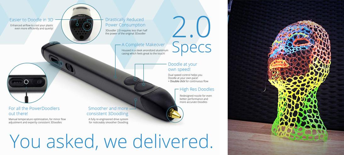 The 3Doodler 3D pen...an affordable, solidly-performing tool.   Image Courtesy: 3Doodler.com