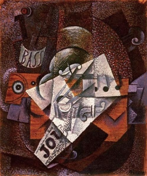 From 1909-1912, he began the artistic movement known as cubism, where the artist breaks the subject down into shapes.