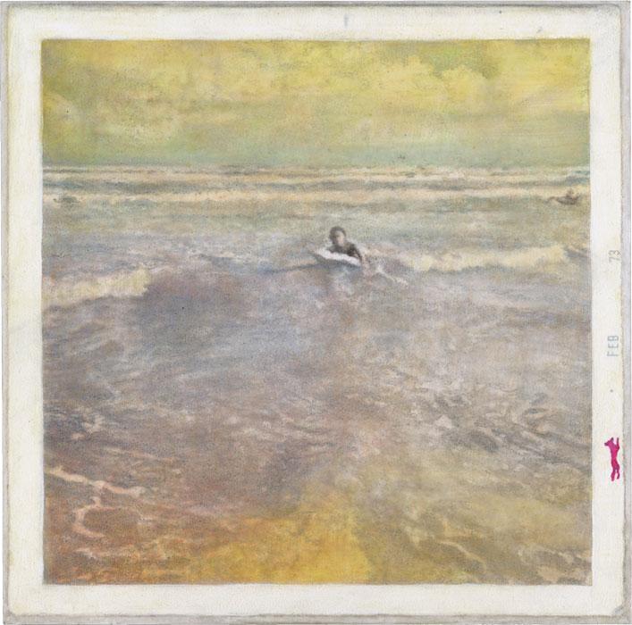 Unknown Error   (Beach Body)    8x8 in. Oil and graphite on panel.    2014