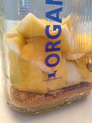 Add 2 cups of lemon scraps