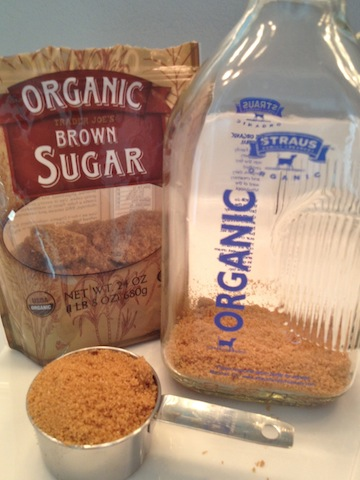 Add 1/2 cup brown sugar in a 2-liter container