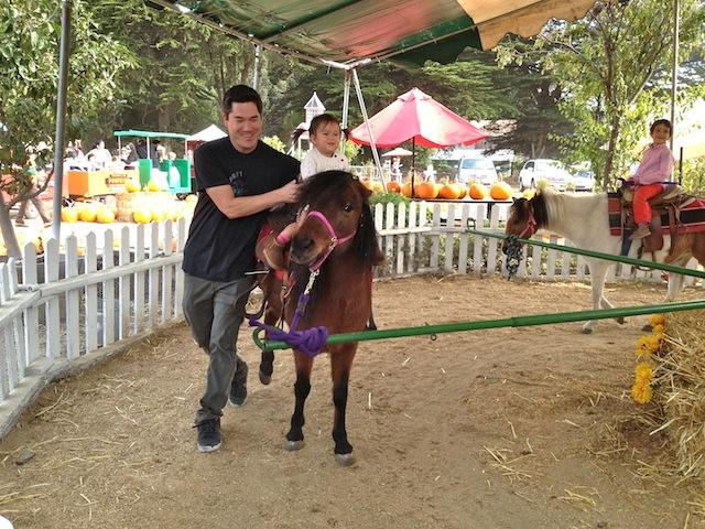 My first pony ride. Giddy up, pony!