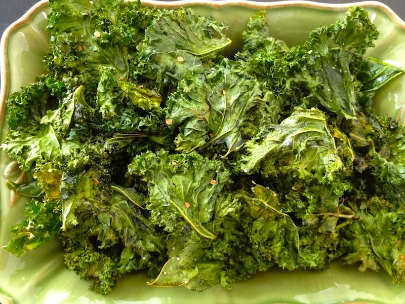 I may have eaten an entire kale head that day.It's hard to stop eating them once you start. I wish I had more right now. Kids like them too!