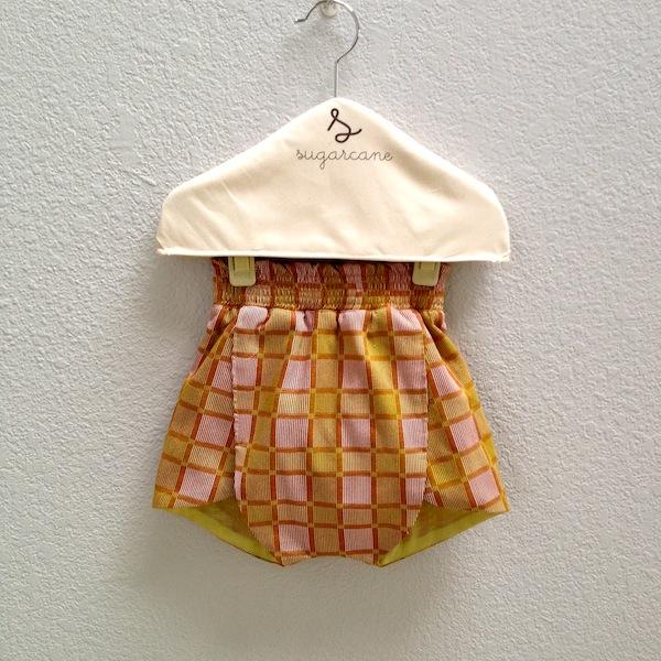 foldover shorts in yellow