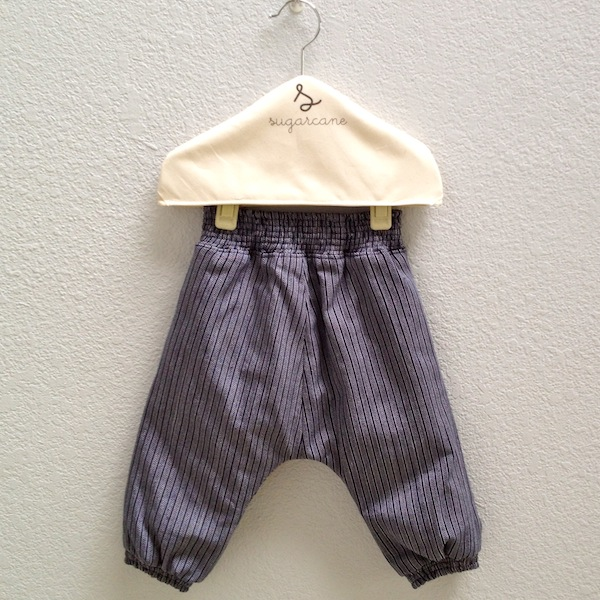 slouch pants in blue