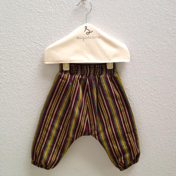 slouch pants in multi stripe