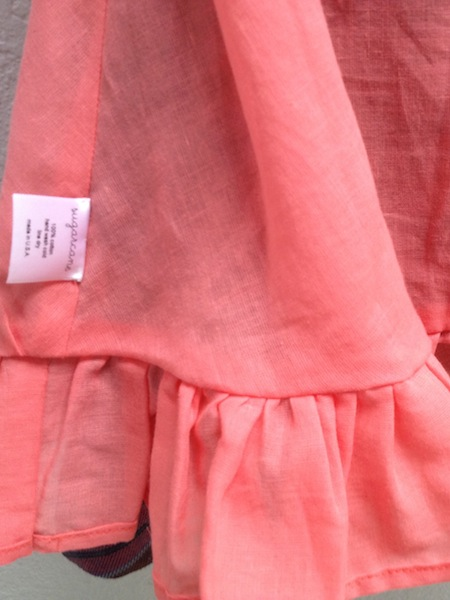 fully lined in soft cotton voile