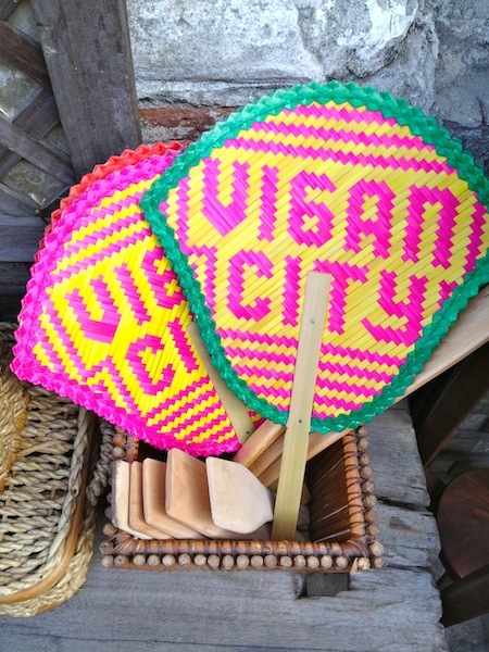 Handmade souvenirs are abundant on Calle Crisologo, the city's famed destination.