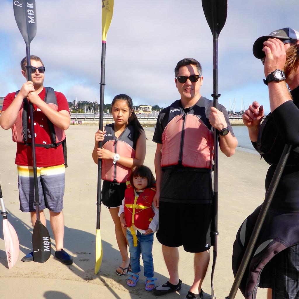 getting kayaking instructions