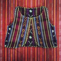 first hand loom vest I made before Sugarcane