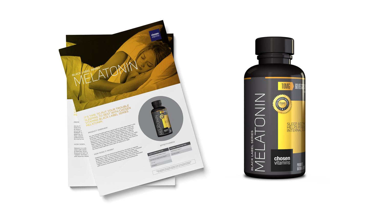 Chosen Vitamins Melatonin Black Series