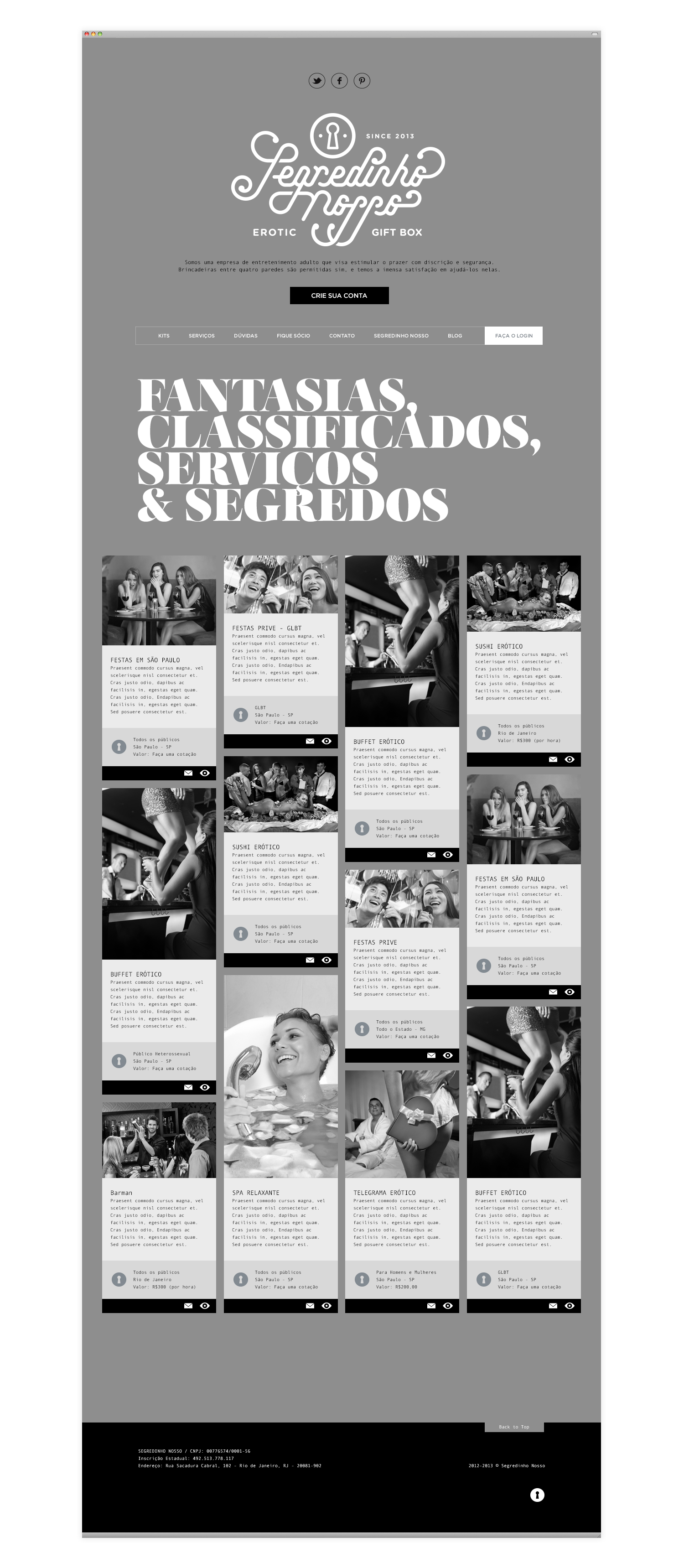Segredinho Nosso Classified Ads