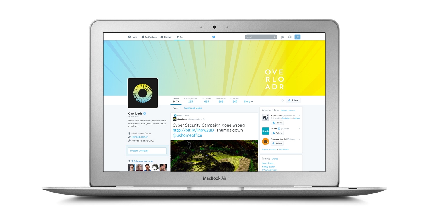 Social Media - Twitter Page