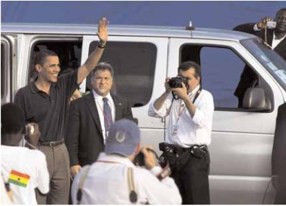 Journalists and local citizens documented President Obama's action-packed schedule, filled with meetings, ceremonies and a public address to parliament.