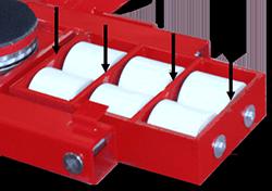 ST series equipment skates heavy duty cassette strut design view