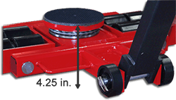 ST series machine dollies low profile rear height view