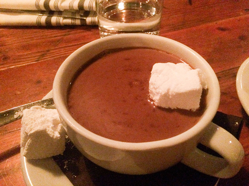 Mindy's Hot Chocolate. Homemade marshmallow