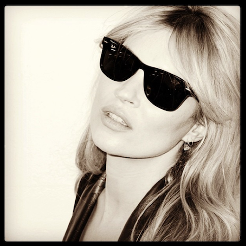 Kate Moss in Ray Ban