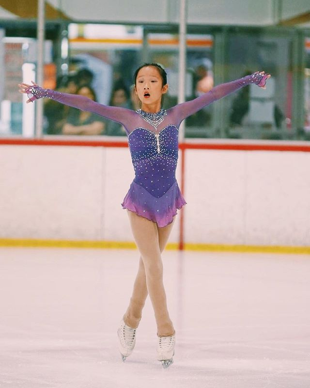 Beautiful @jojosk8tes in her purple ombré and genie dresses from this season 😍 ✨ #customdesign