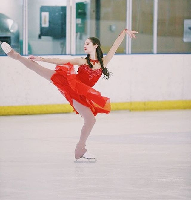 @chloe_blair in her other custom dresses throughout the years! Silk skirts are so flowy and gorgeous for ice dance 😍