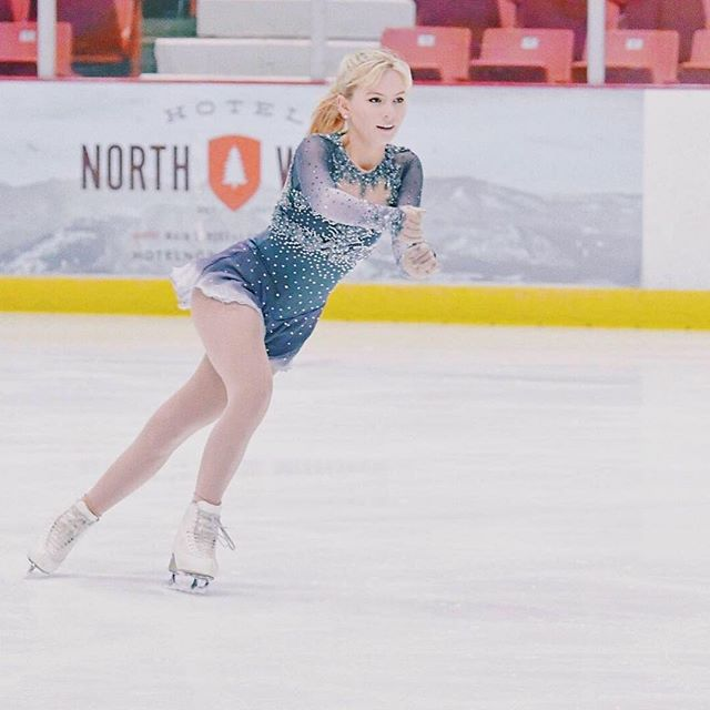 Some dreamy photos of @georgieonice in her charcoal-ombré dress at Regionals in Lake Placid!
