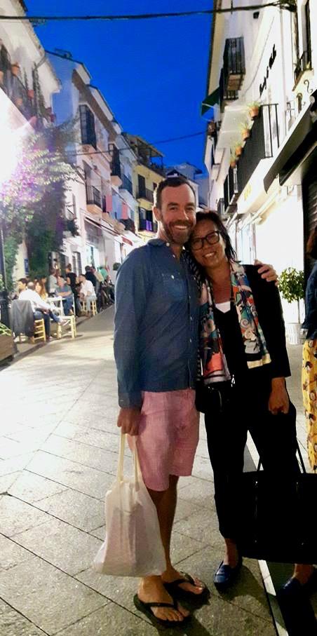 With dearest Matt in old town Marbella