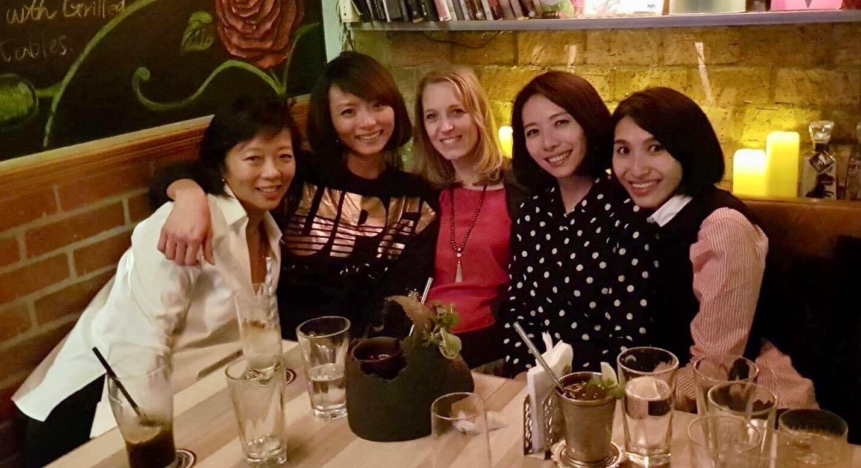 Left to right: Ellen, Catia, Amy, Bamboo, Ashley
