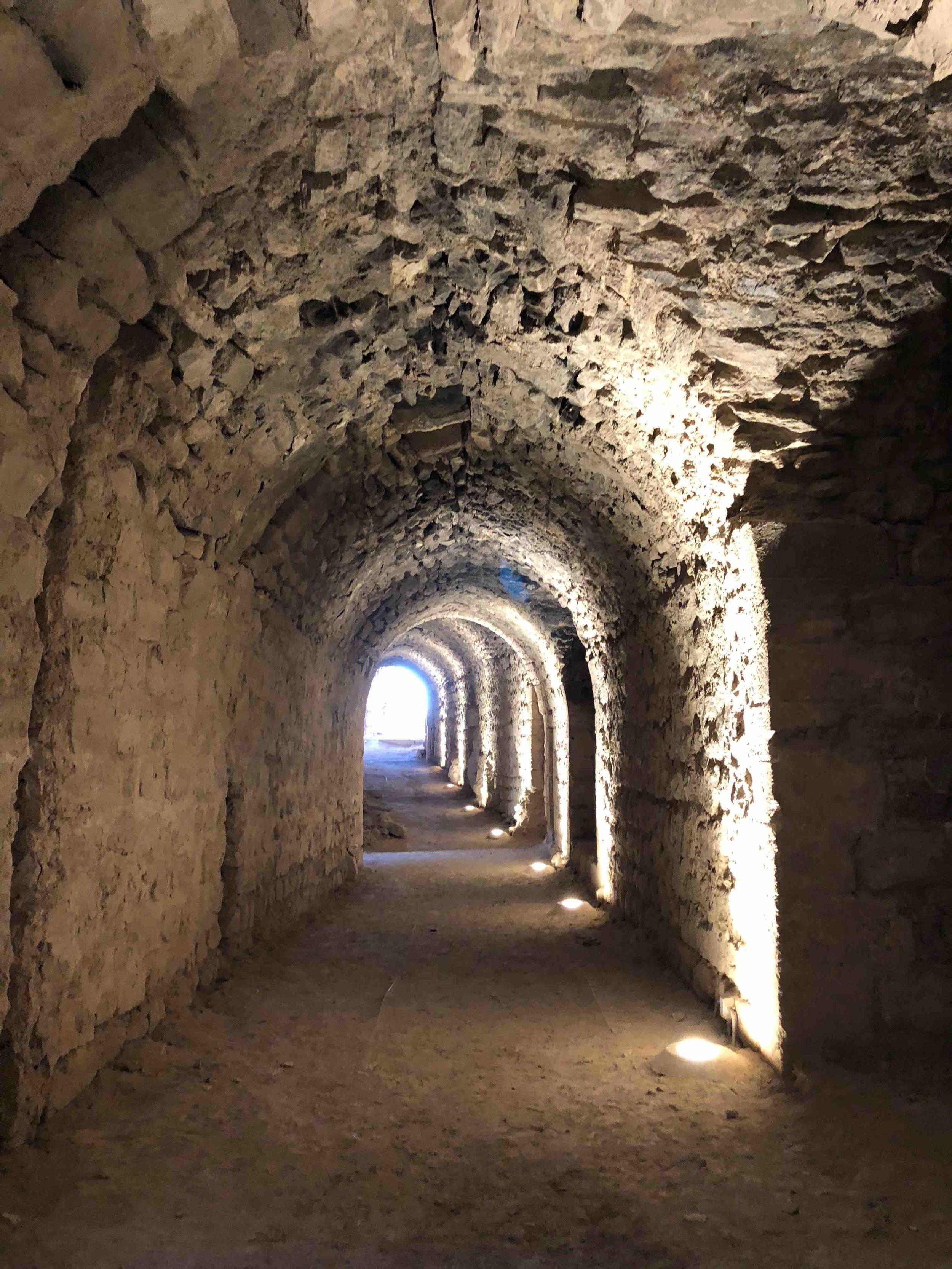 Tunnels in Kerak Castle