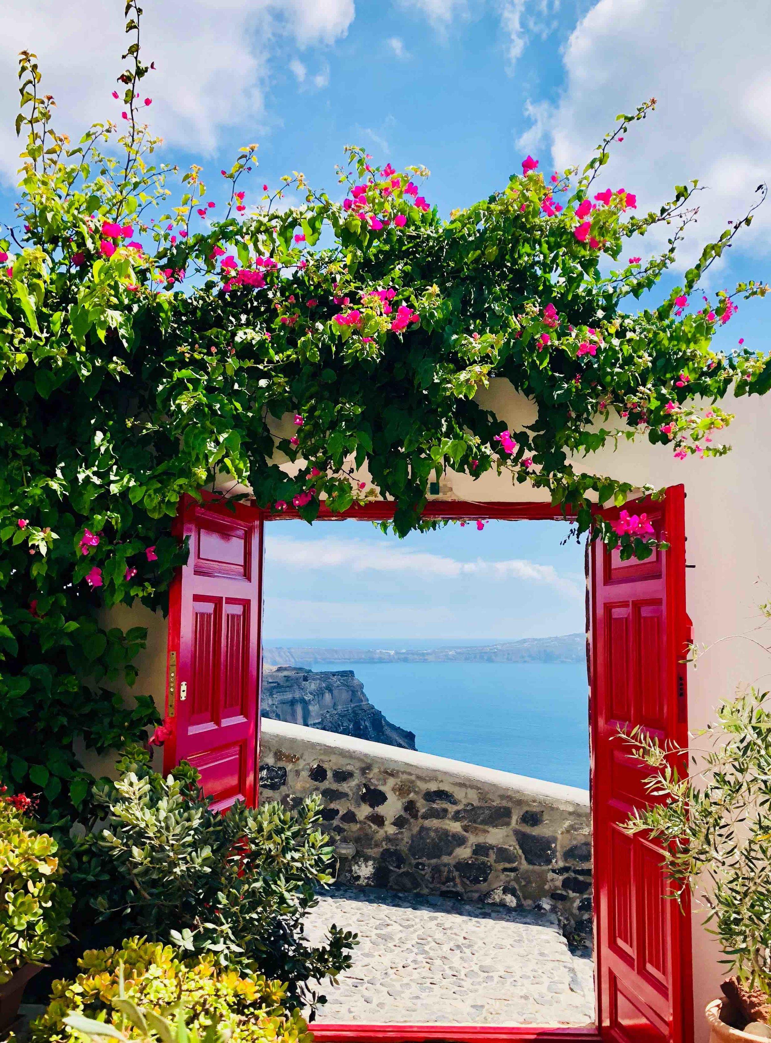 Entrance to Aigialos Hotel