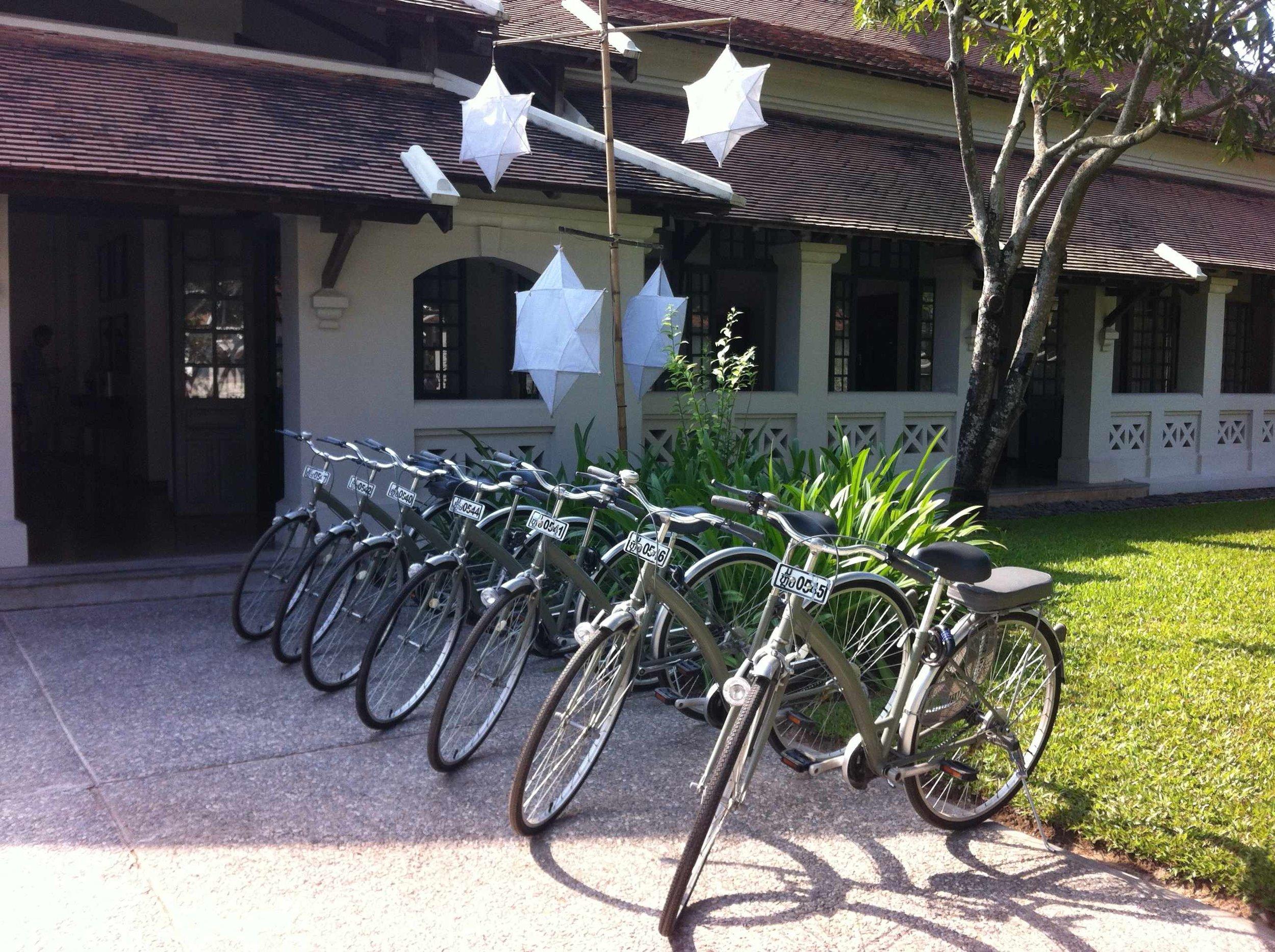 Bikes at Amantaka