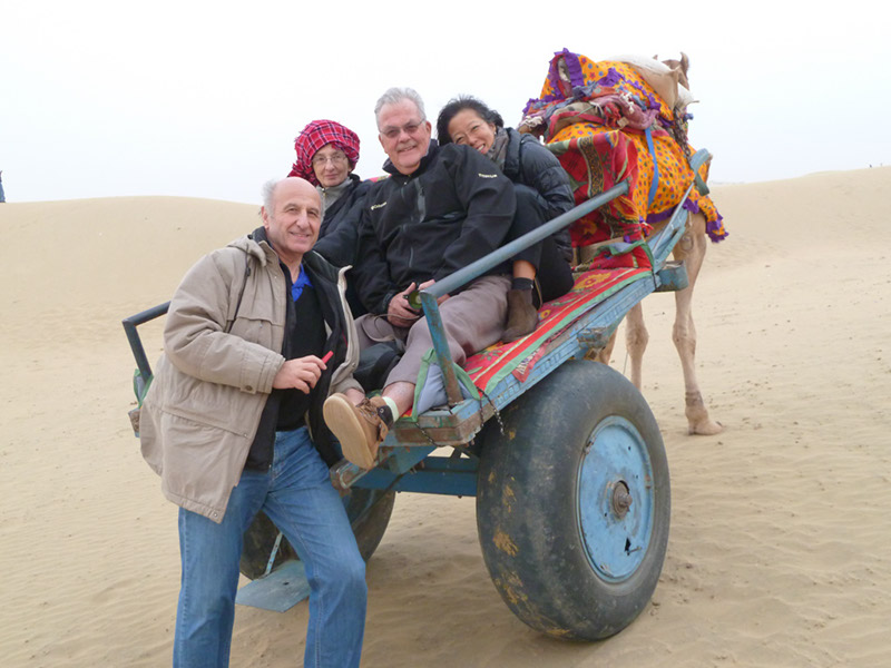 Camel cart riding