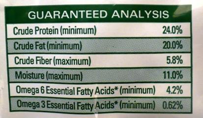 pet food label primal canine