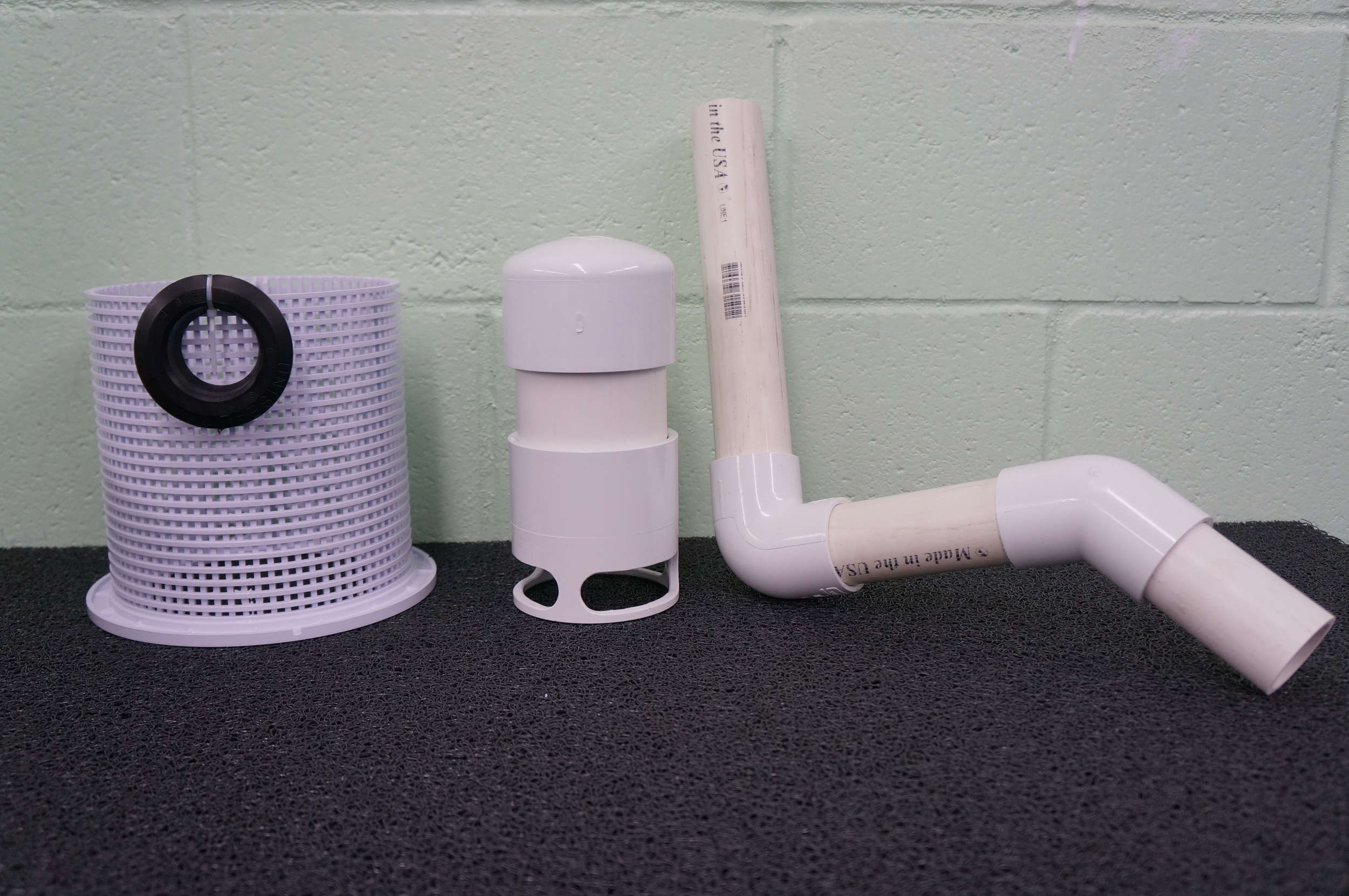 "Large Siphon Kit:  Siphon bell, gravel guard, drain, and 1 1/2"" Uniseal"