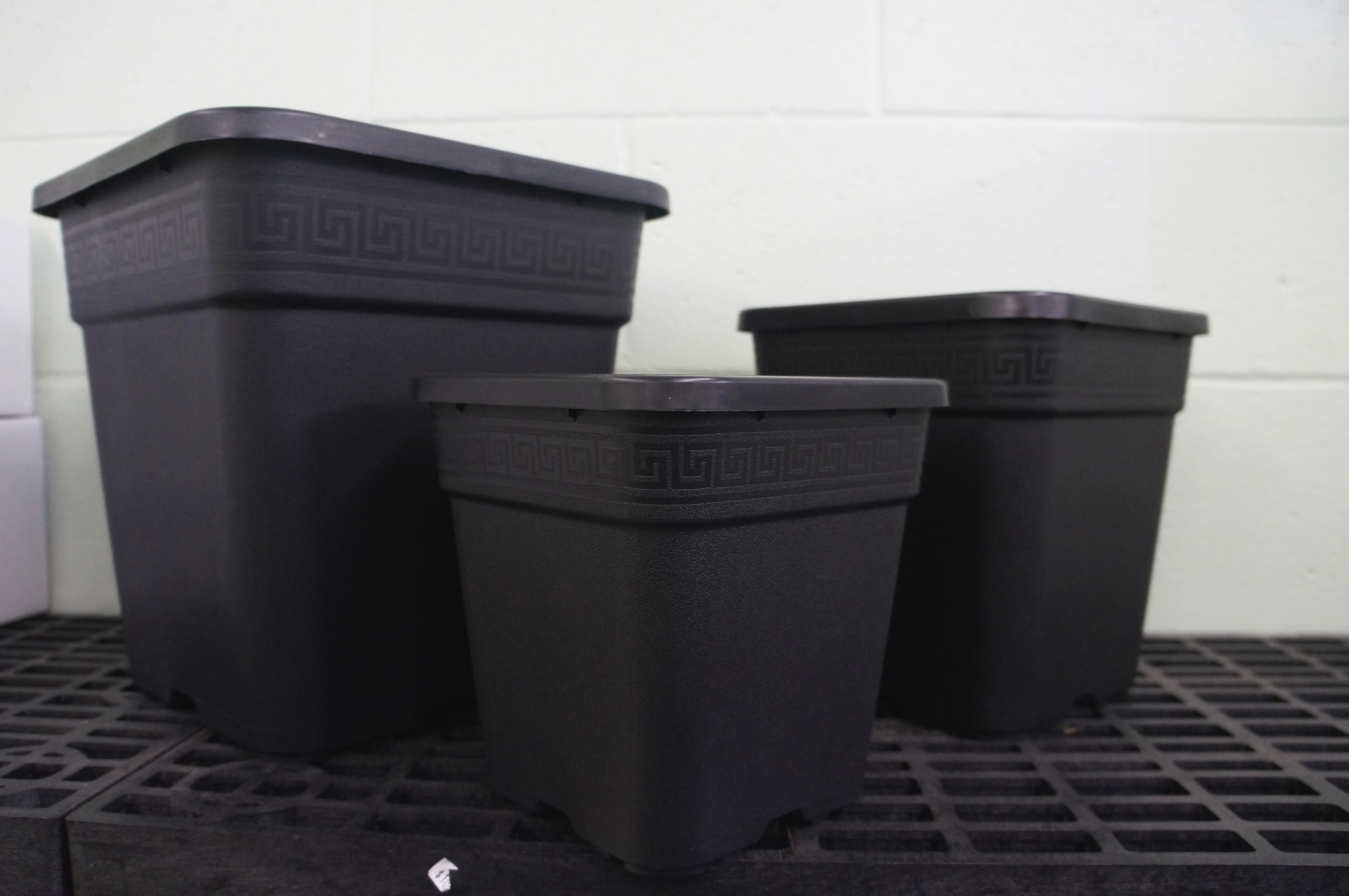 """Square Pots: 7"""", 9"""", and 12"""""""