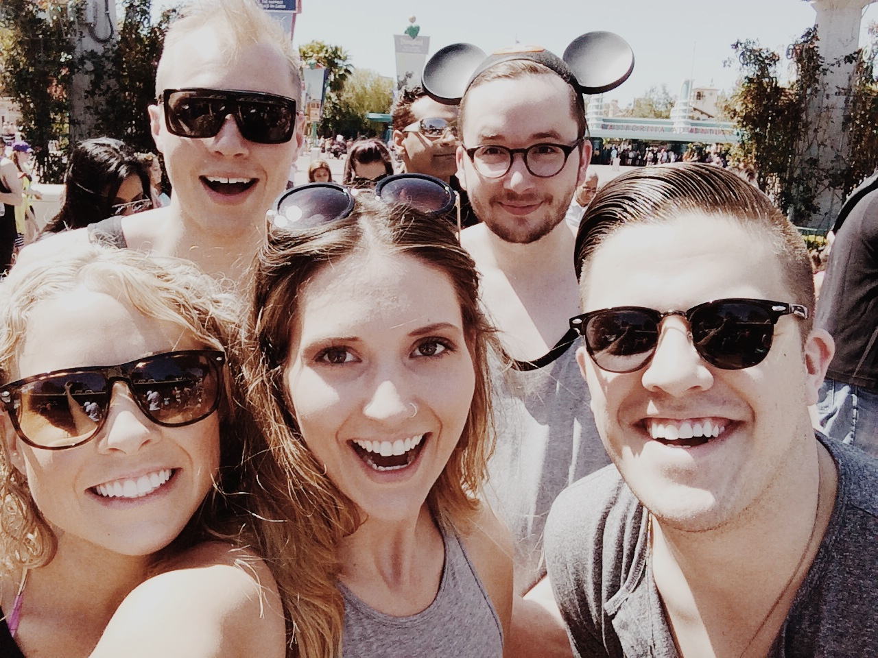 Going to Disney Land with some of my favorite people.