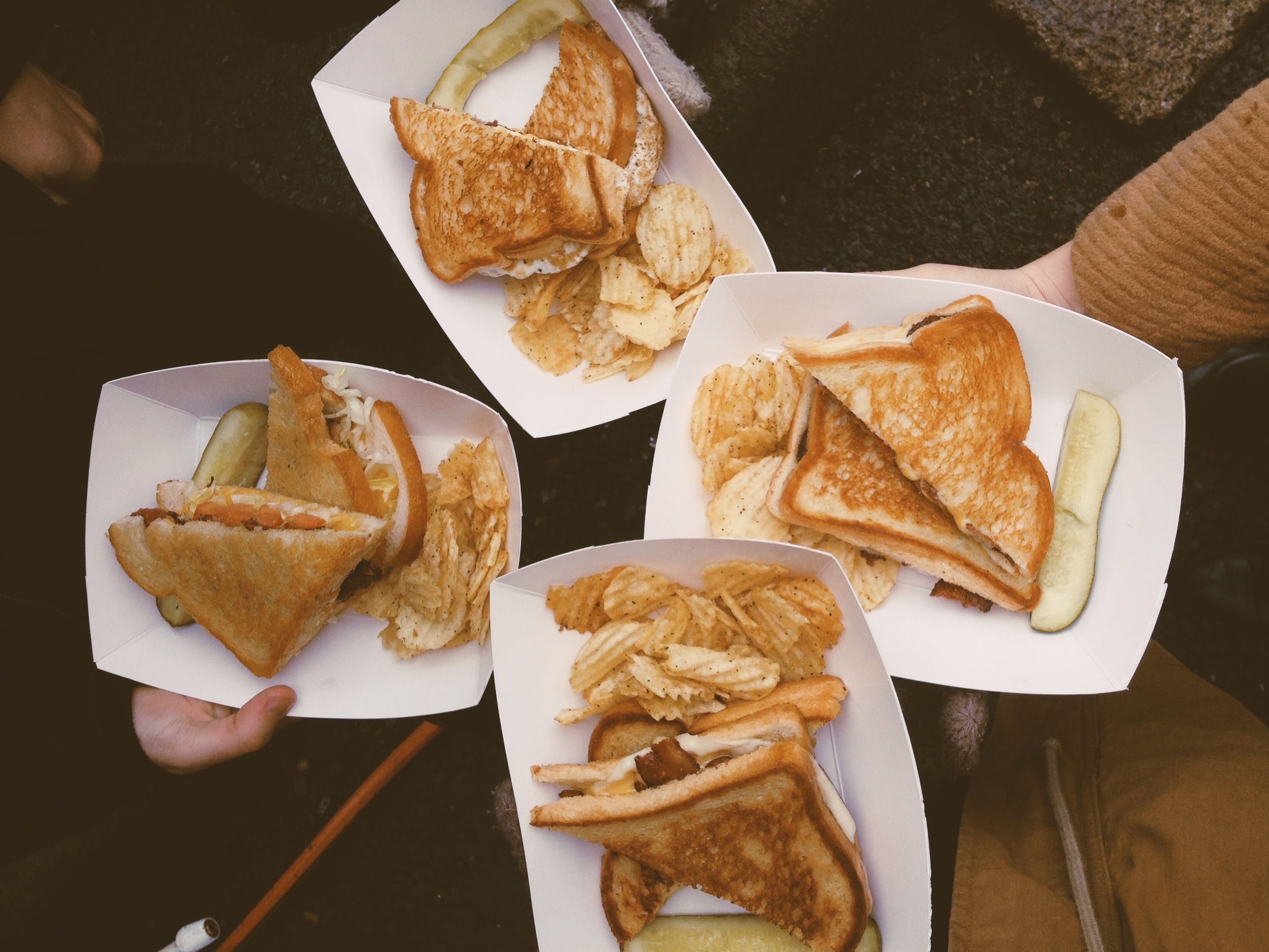 Portland food truck: Bacon grilled cheese.