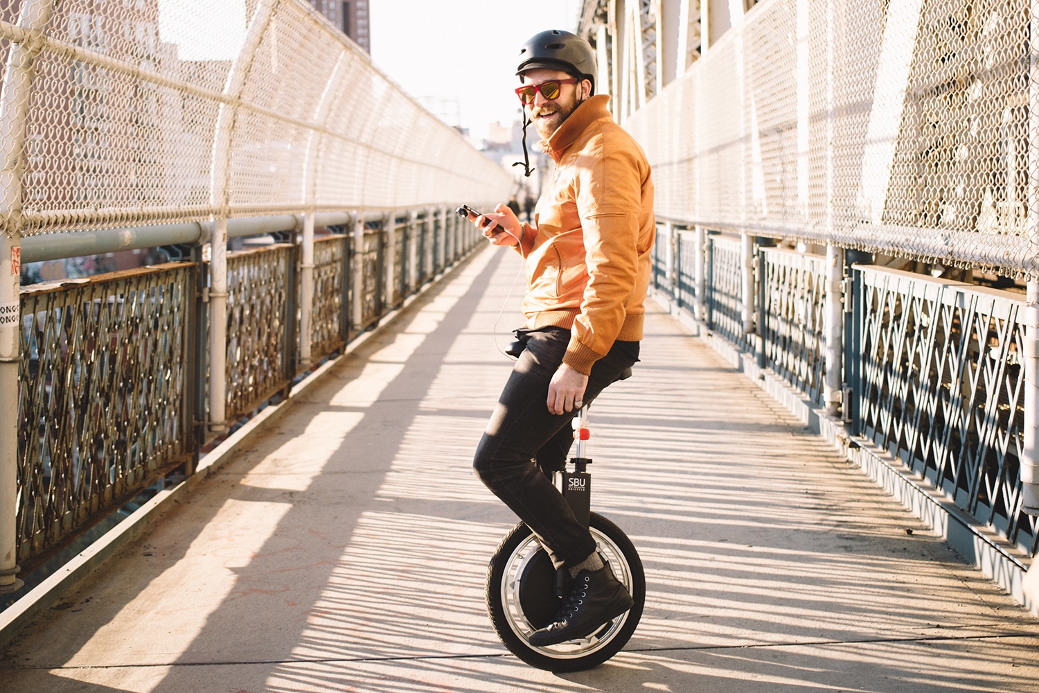 Cubby rides his unicycle around NYC. And it's awesome.