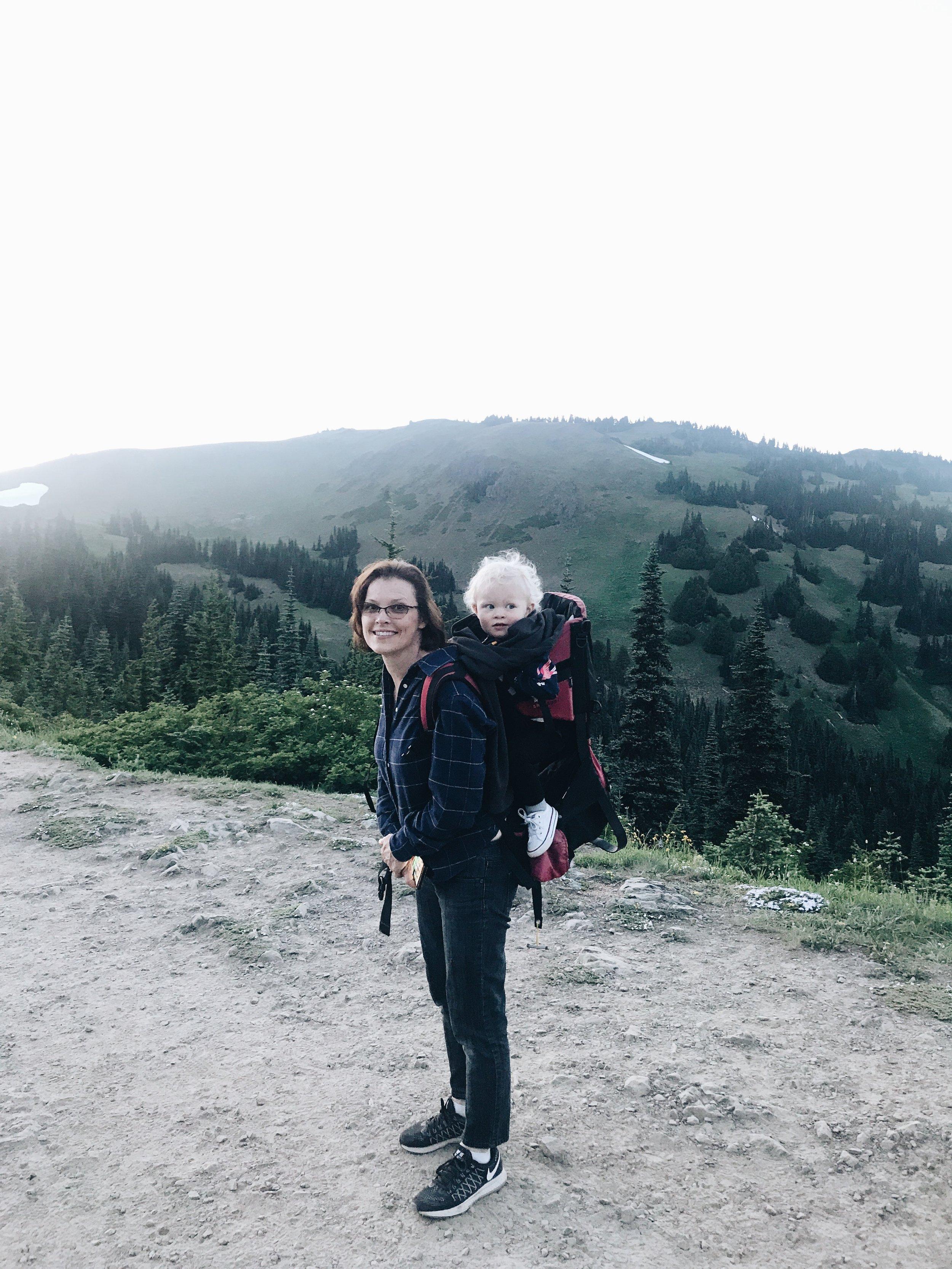 My mom and my niece Ezra.
