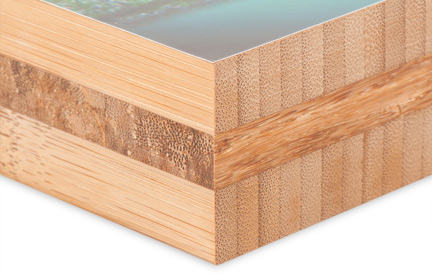 1.5 inch square bamboo edges