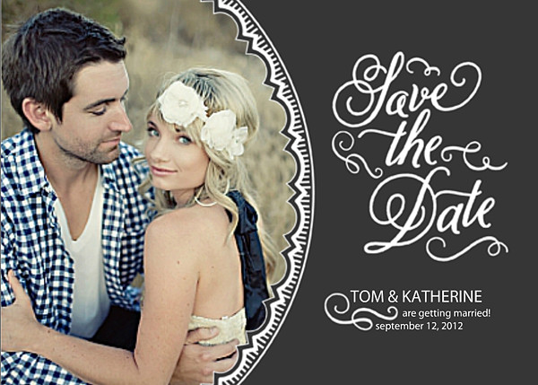 Save The Date Card Sample