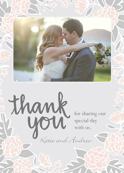Thank you wedding card sample