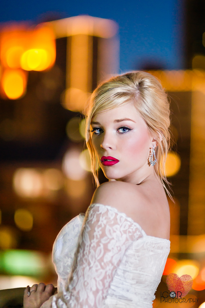 Low-light bridal photography in Fort Worth, Texas.