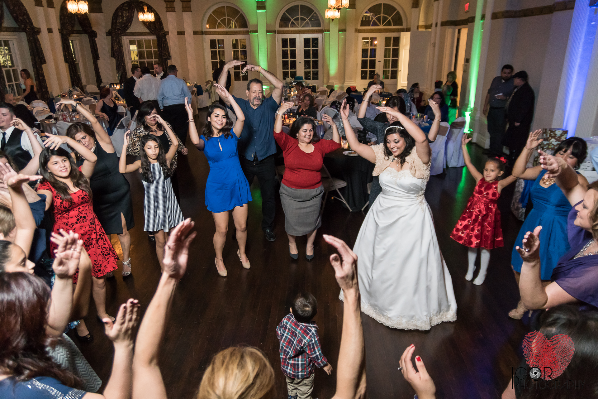 YMCA wedding dance reception