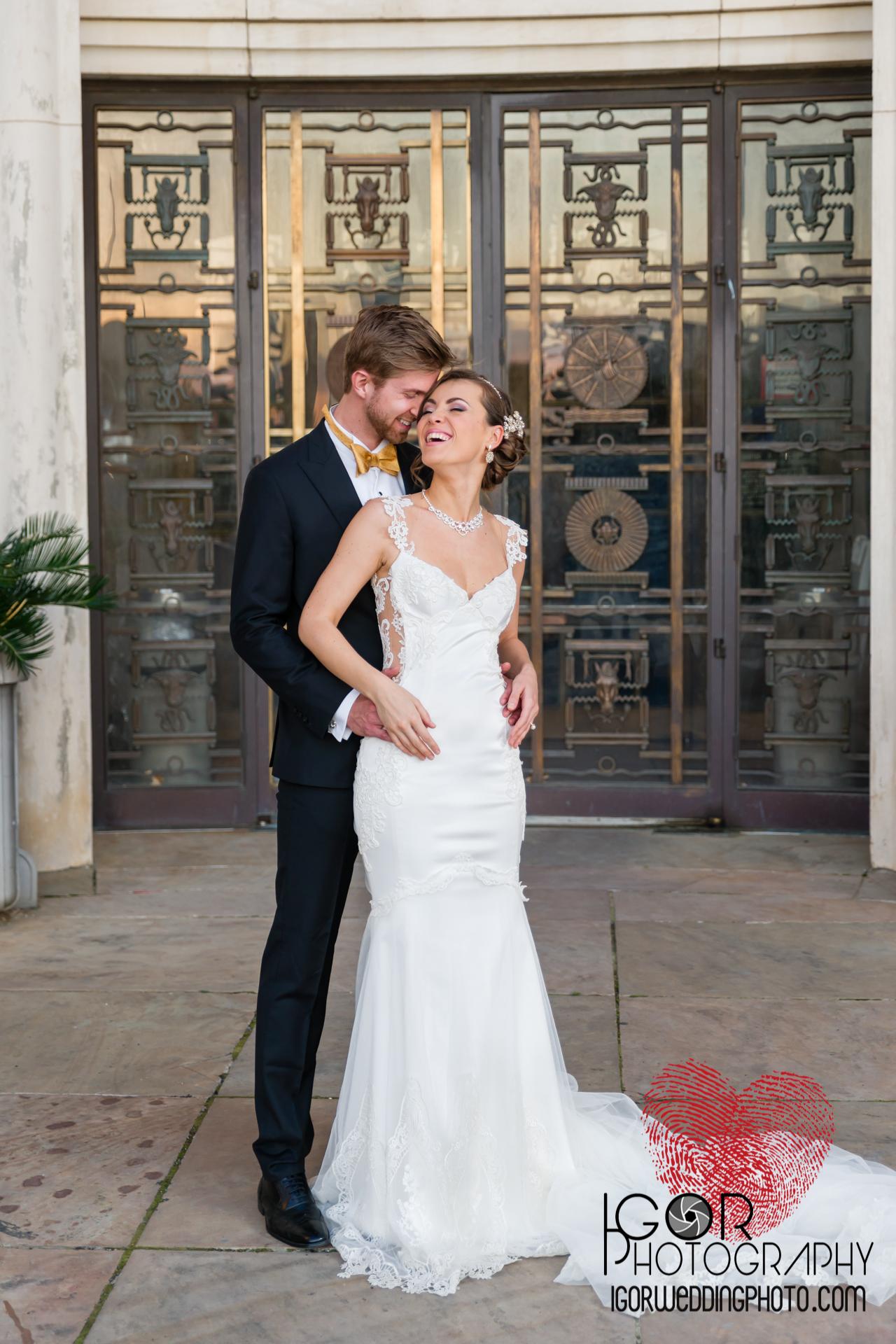 dallas groom and bride portrait