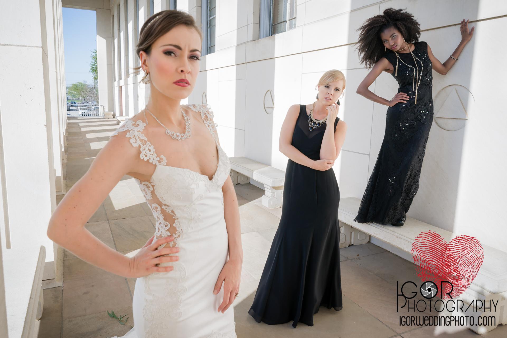 dallas fashion wedding photography