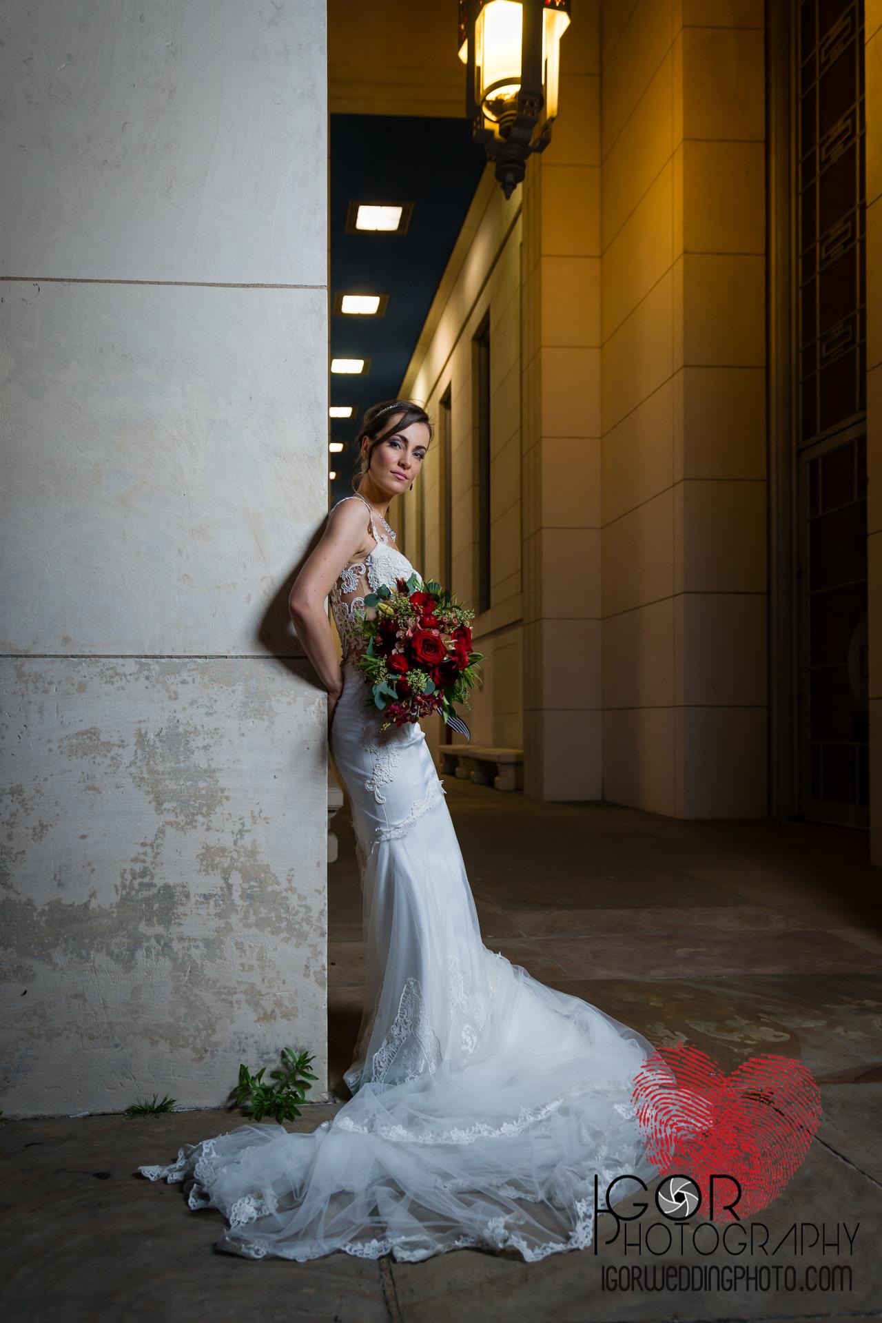 Dallas Fair Park bride night