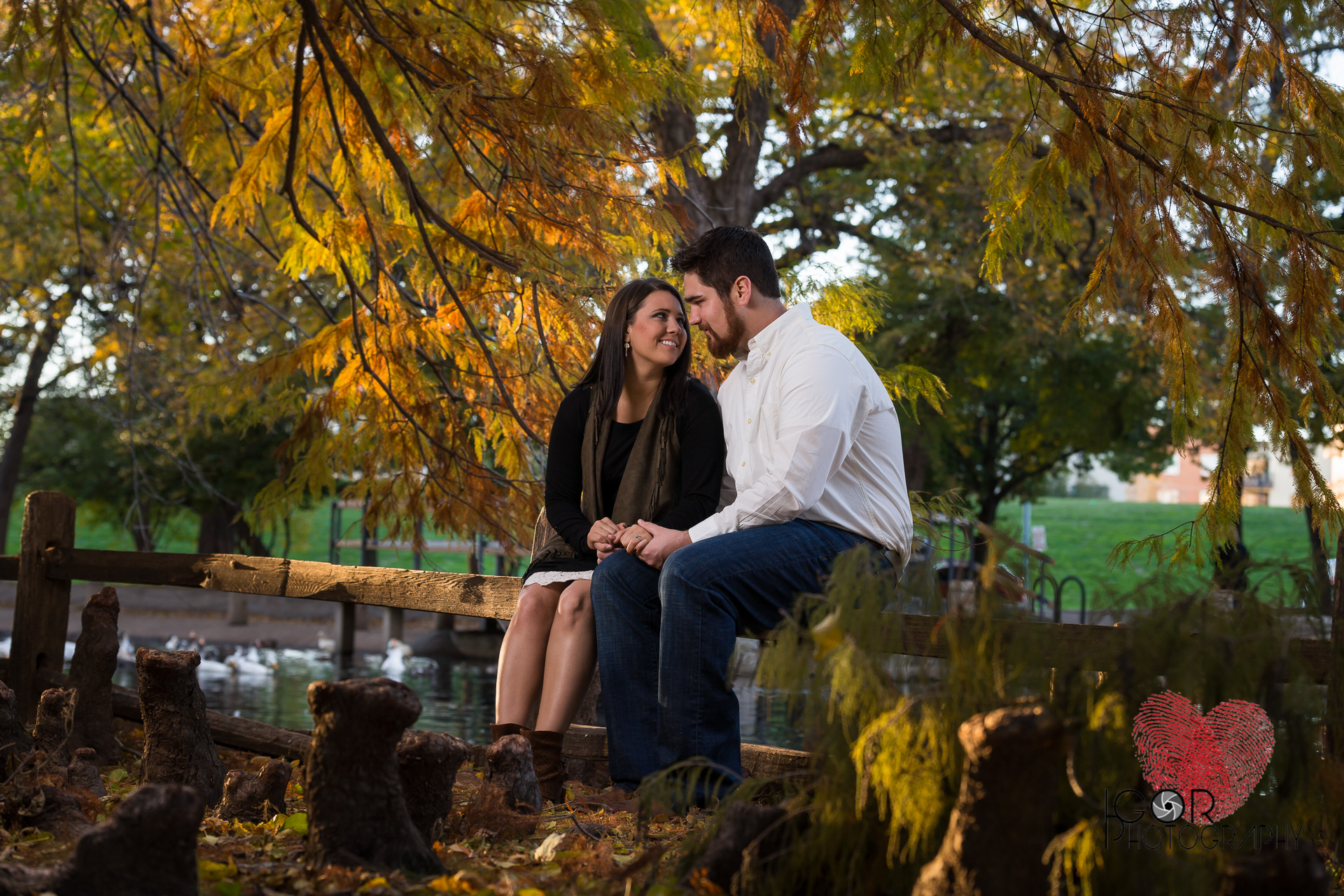 Trinity Park Engagement Photography