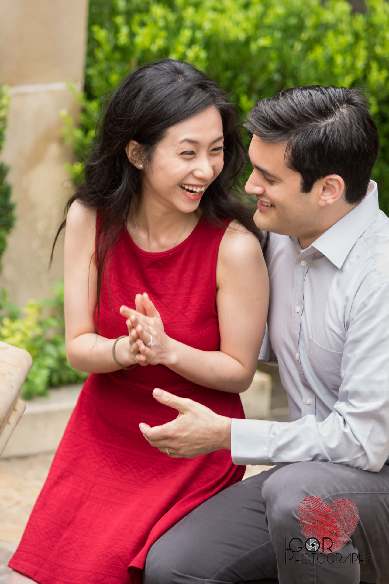 Fort Worth Botanical Garden engagement