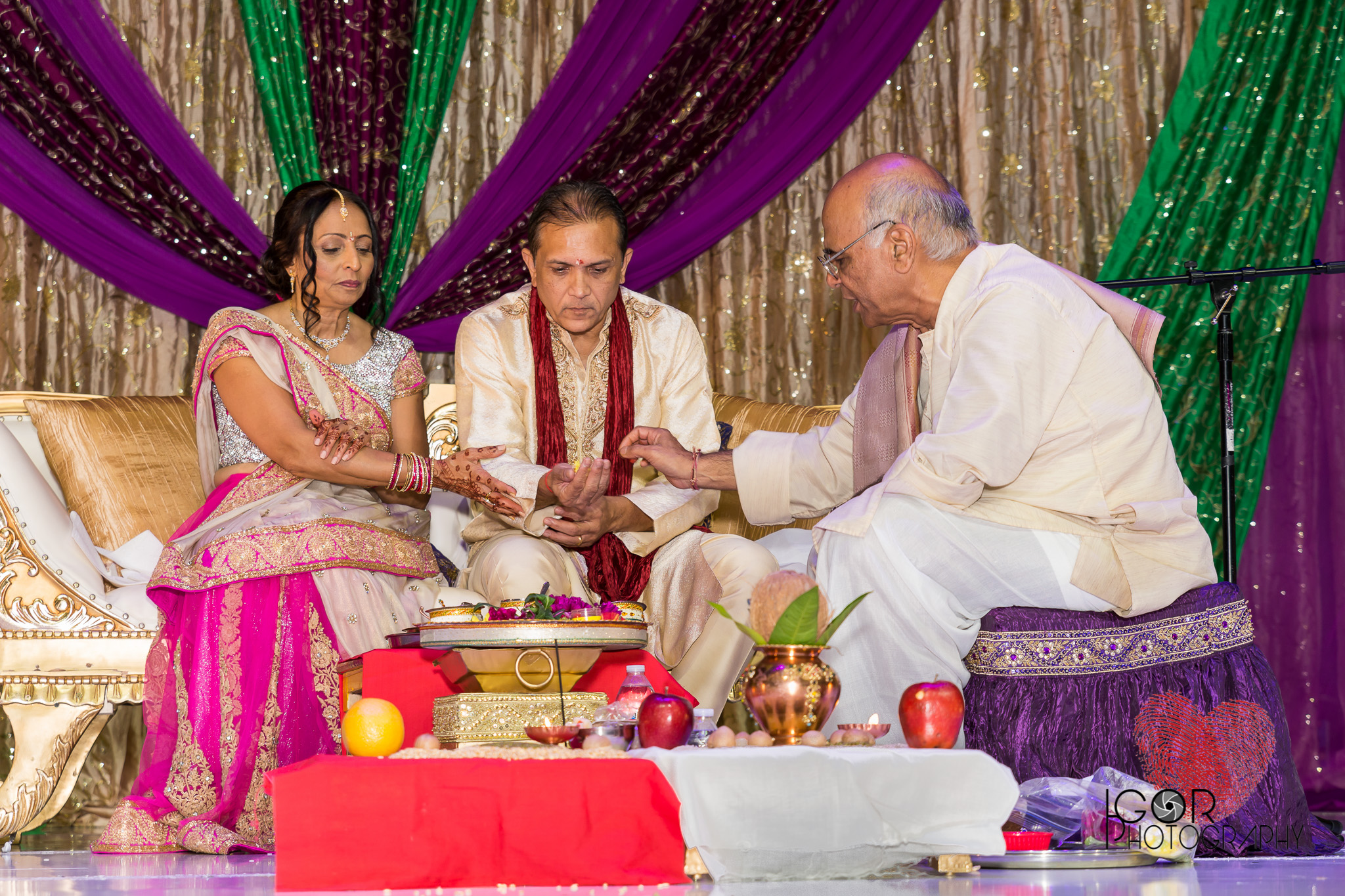 Bride's family ceremony