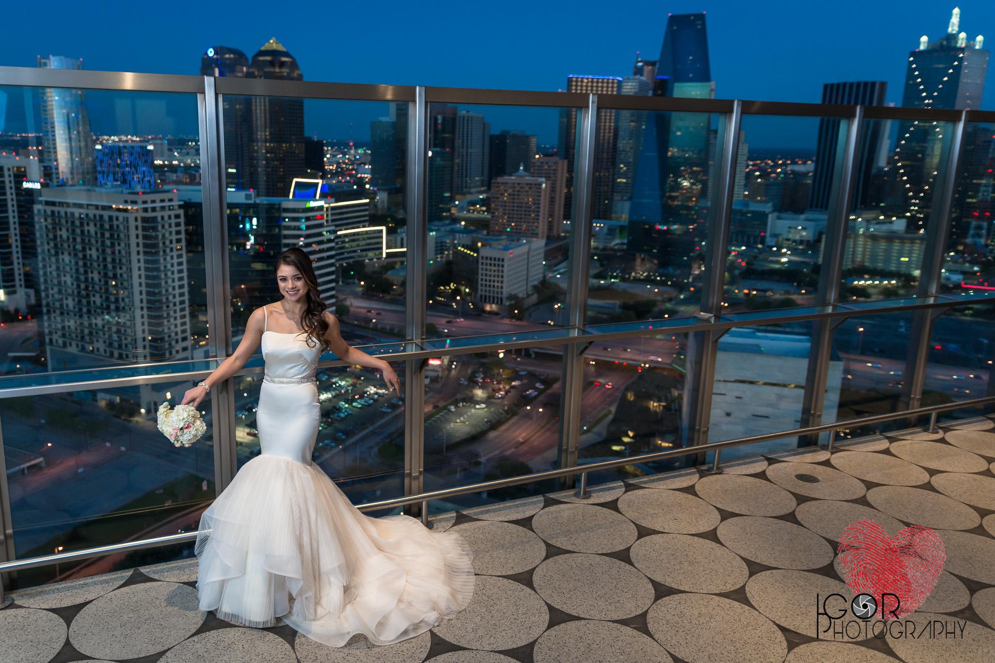 Unique bridal photo